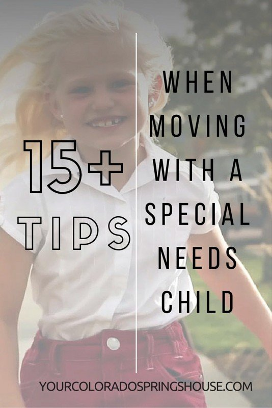 TIPS WHEN MOVING WITH SPECIAL NEEDS CHILD