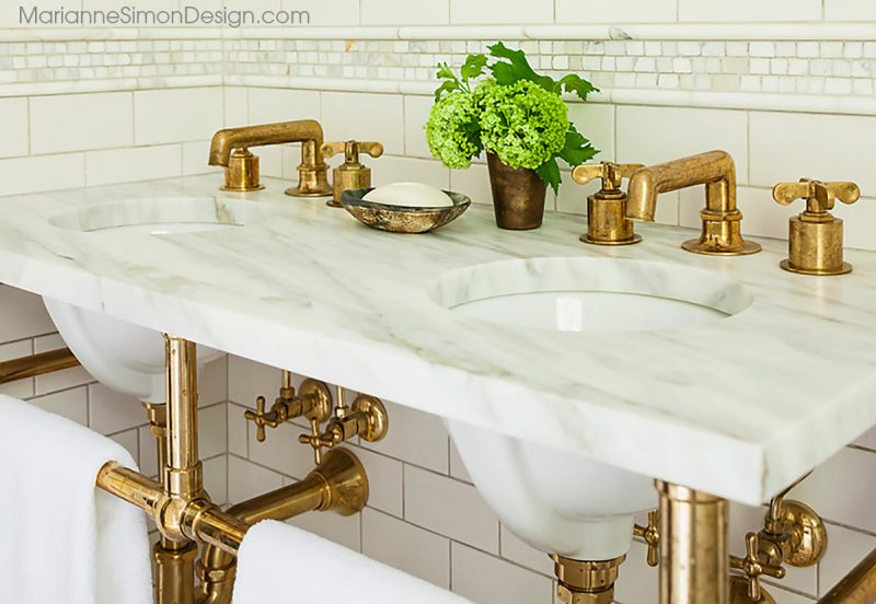 marble and brass home design trend