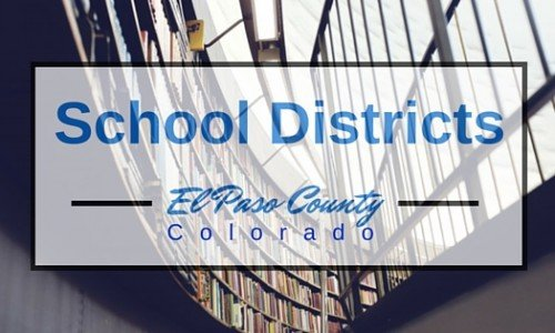 El Paso County Colorado School districts