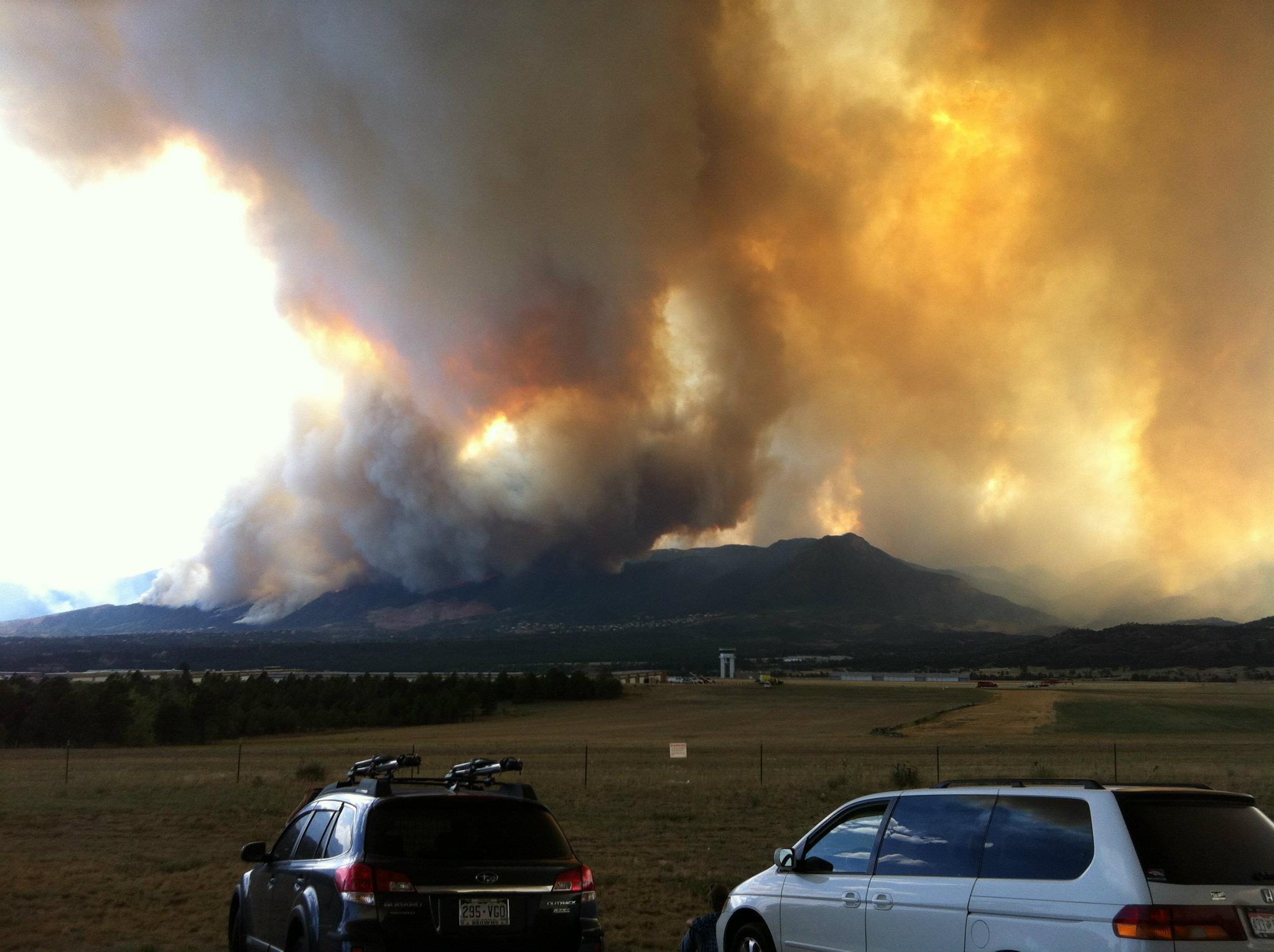 Smoke from Waldo Canyon wildfire in Colorado