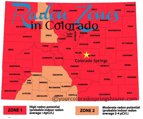 Radon Zones in Colorado -Map
