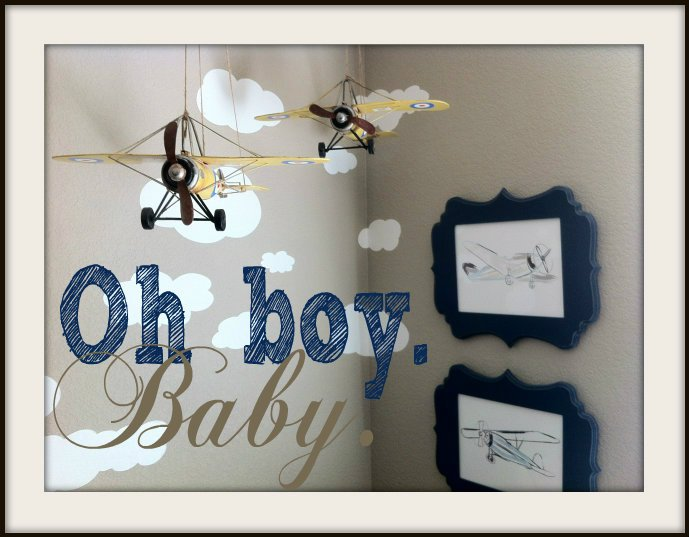 Staging Baby boys room Airplanes