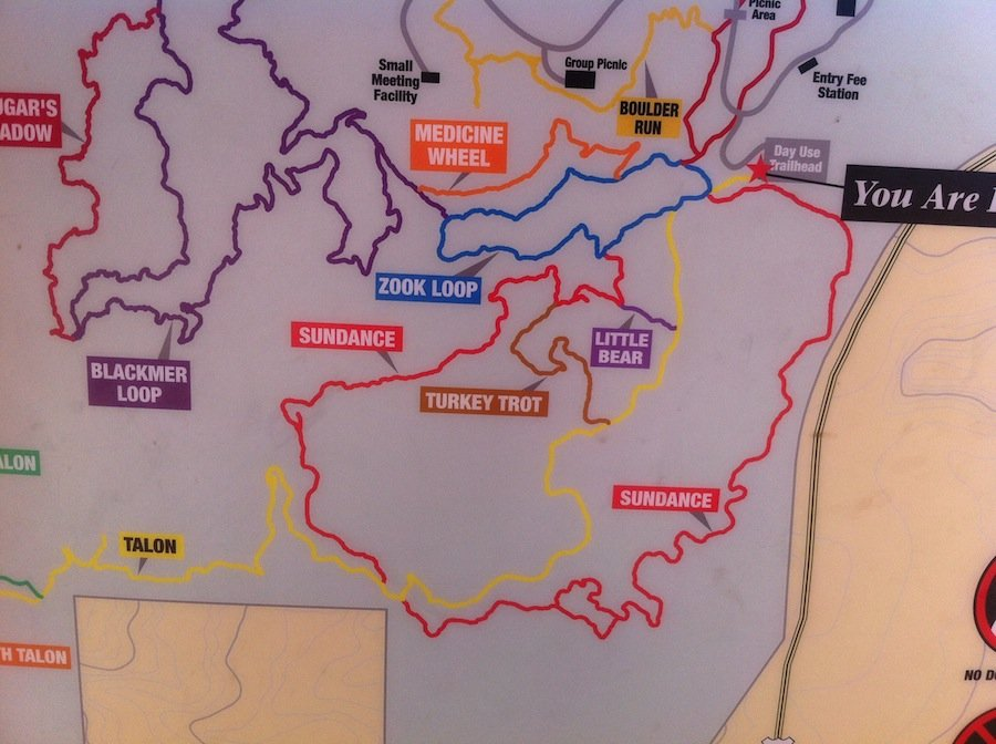 Cheyenne Mountain State Parks Trail map