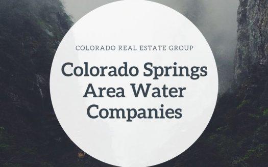 Colorado Springs Area Water companies graphic