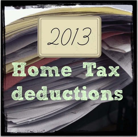 Home Deductions Taxes 2013