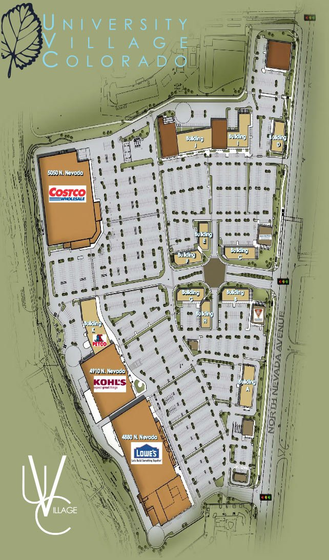 University Village Shopping Center Colorado Springs Map