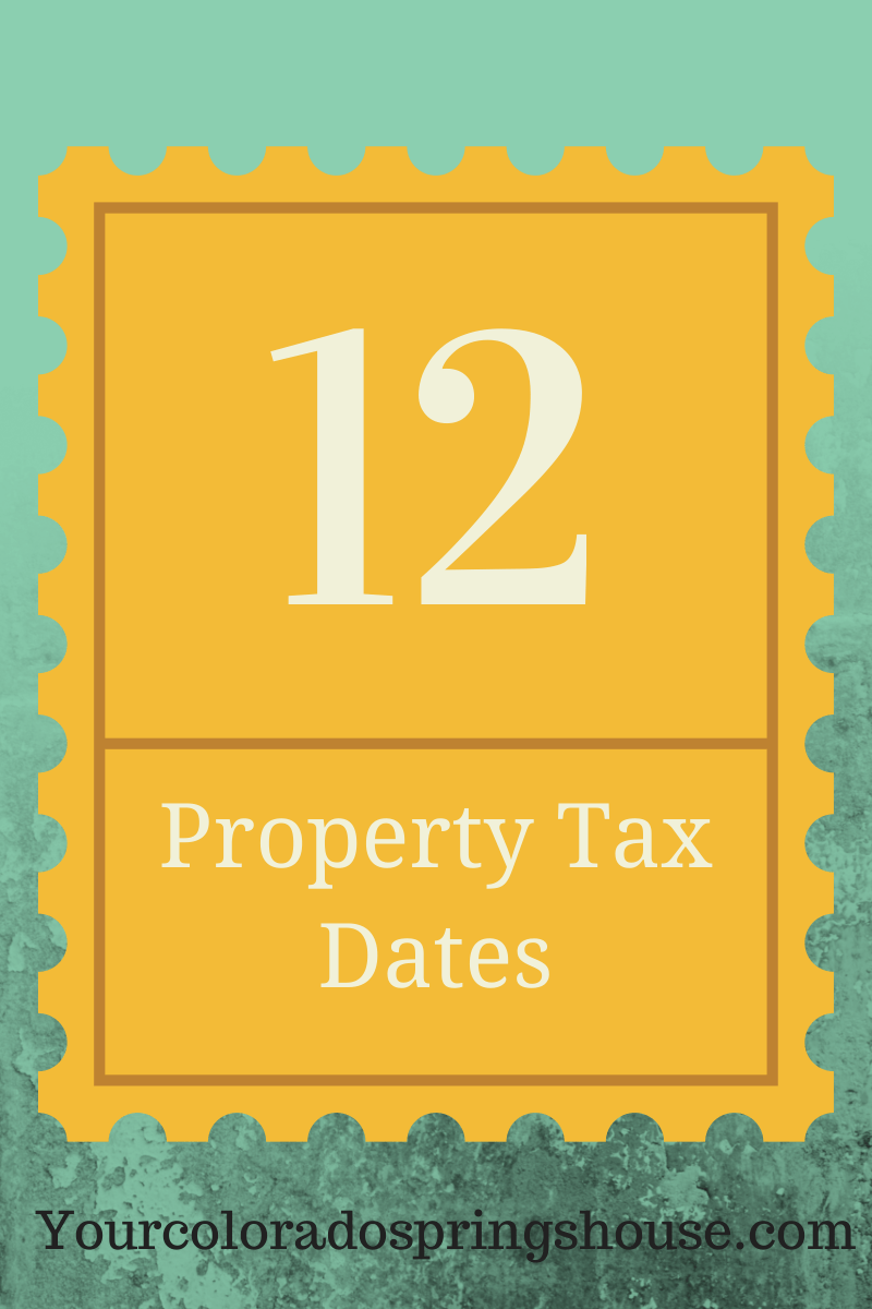 Property Tax Dates El Paso County