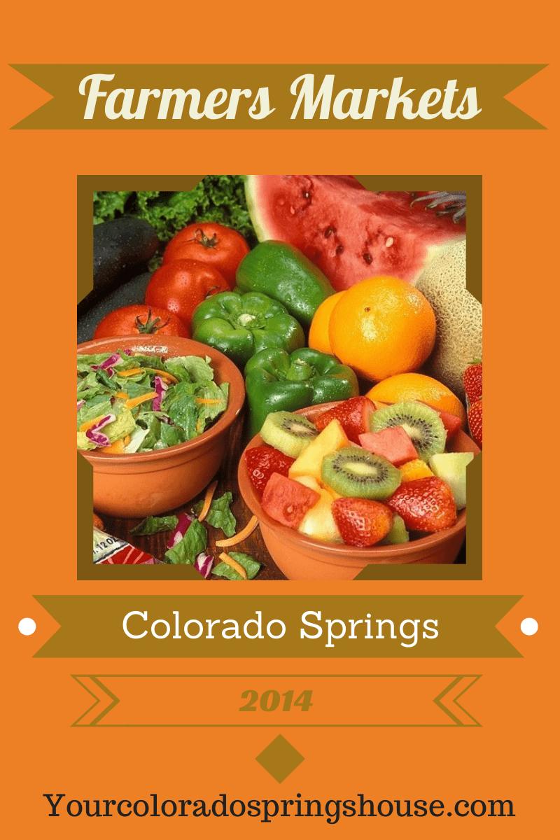 Colorado Springs Farmers Market Information 2014