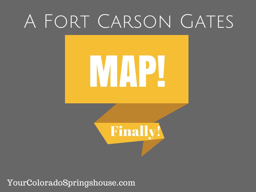 Fort Carson Gates Map