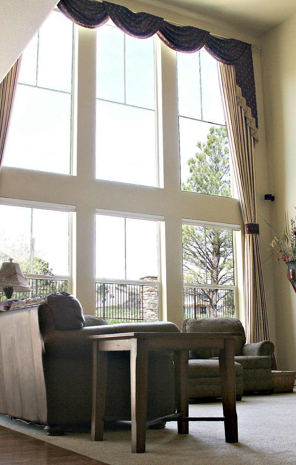Wall of windows in a home for sale in Cheyenne Mountain in Colorado Springs