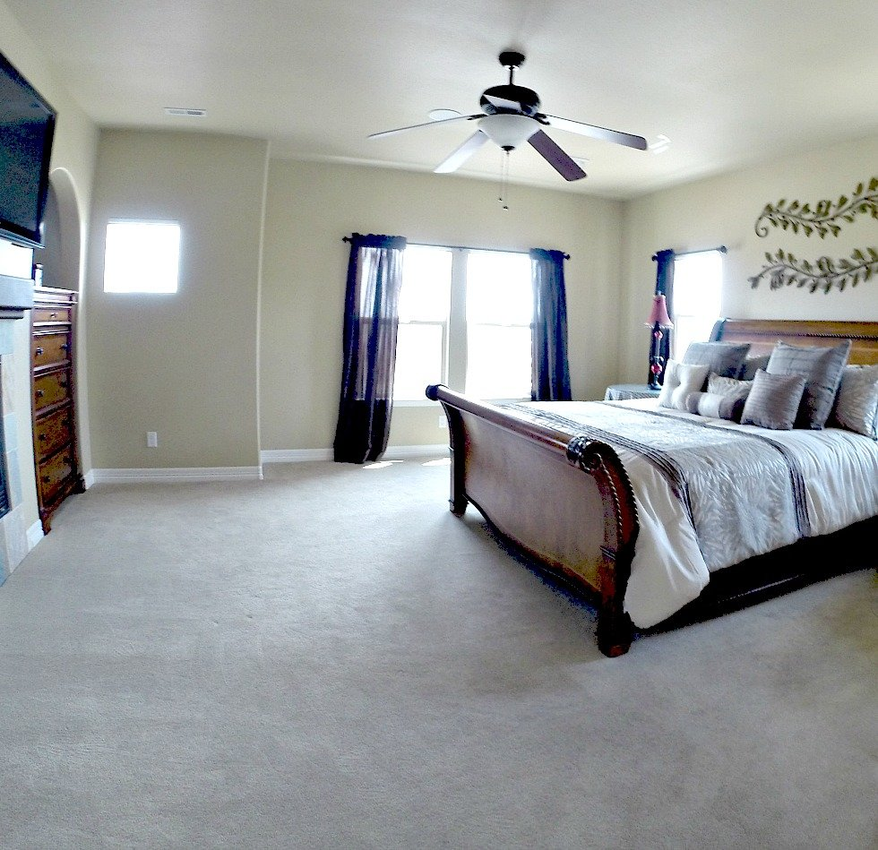 Picture of a bedroom in a house for sale in the Cheyenne Mountain area of Colorado Springs