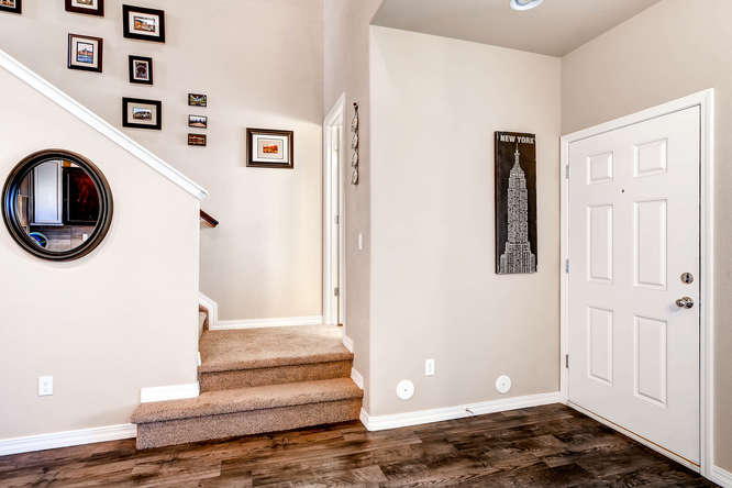 Picture of front entryway of 1831 Portland Gold Dr Colorado Springs CO 80905