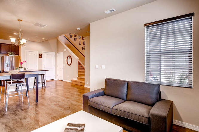 Picture of living room looking into staircase of 1831 Portland Gold Dr Colorado Springs CO 80905