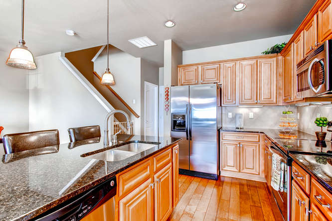Picture of kitchen area looking toward stairwell in 1450 Gold Hill Mesa Dr