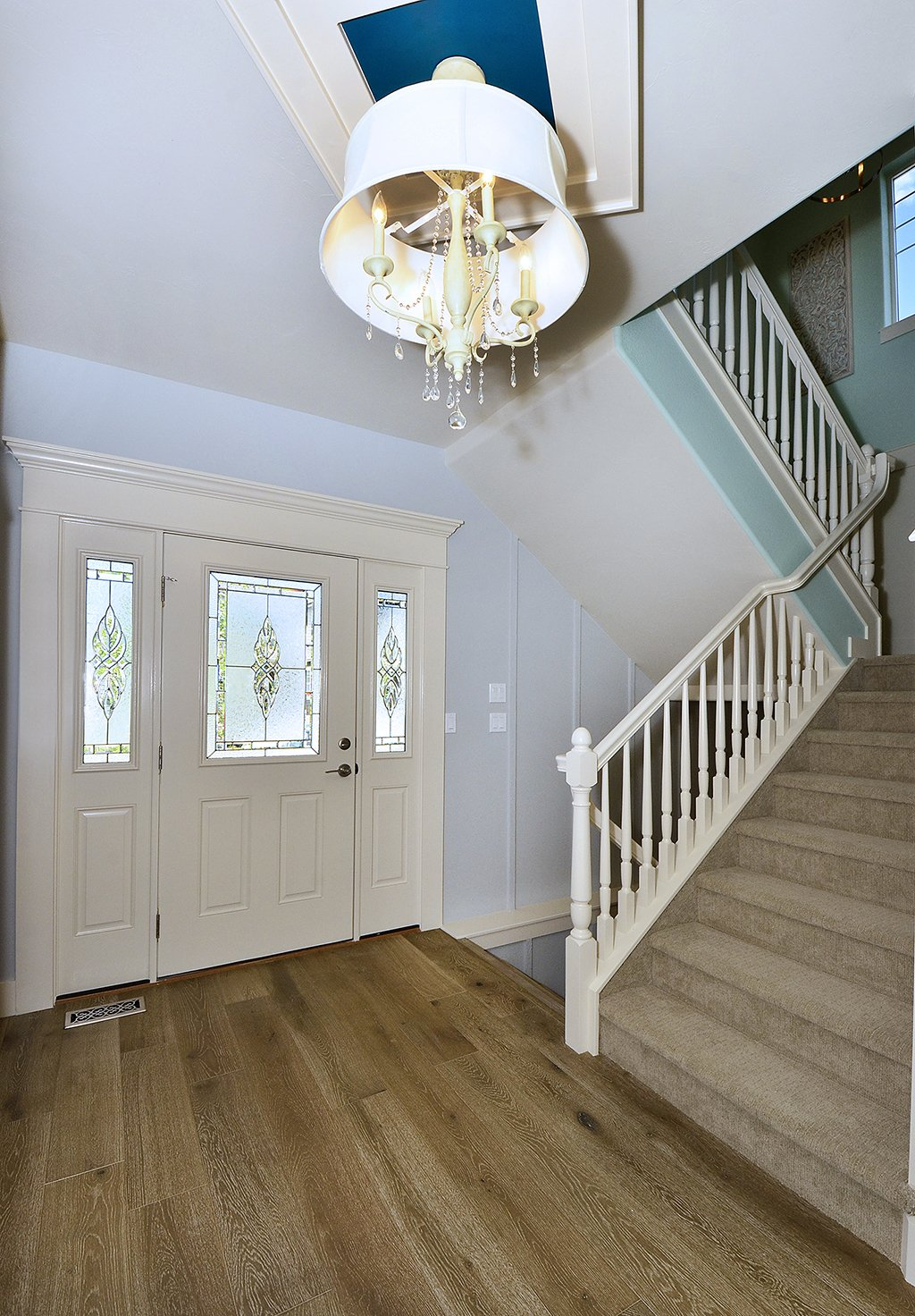 Picture of front door & stairway of 1602 Gold Hill Mesa Dr Colorado Springs CO