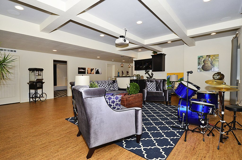 family room in basement gold hill mesa