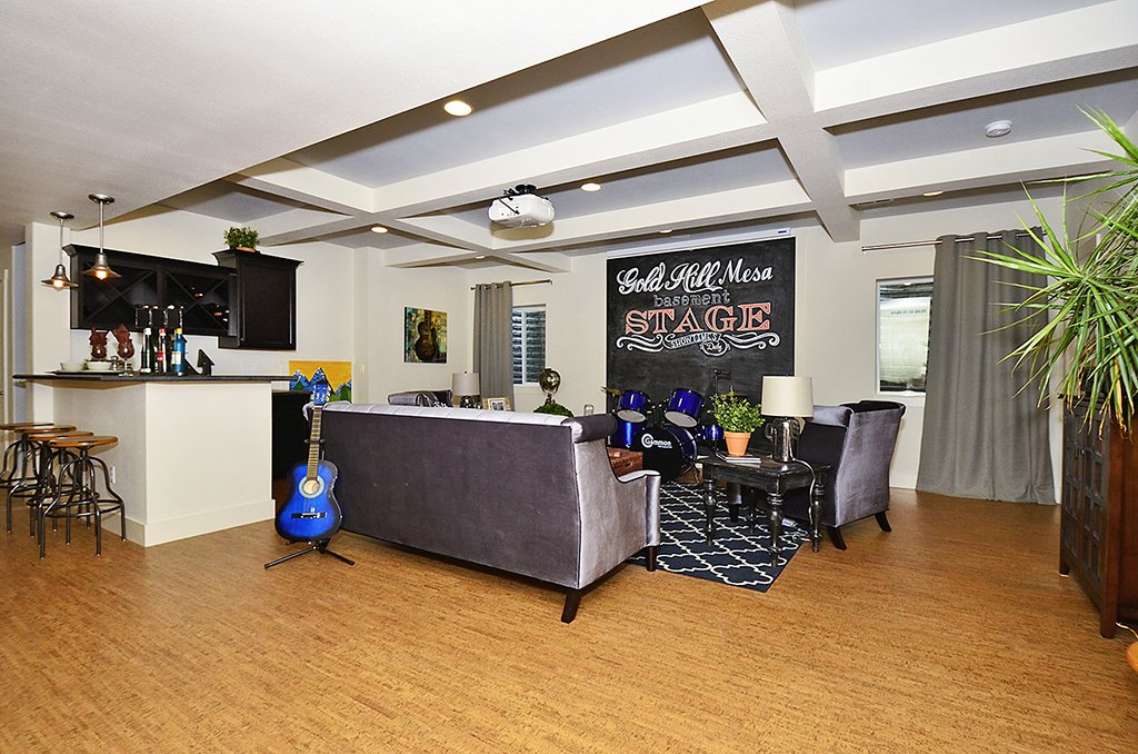 Picture of family room with chalkboard in the background in 1602 Gold Hill Mesa Dr Colorado Springs CO