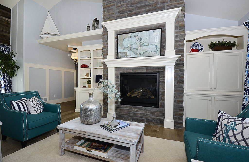 Picture of fireplace, cabinets & bookcase in 1602 Gold Hill Mesa Dr Colorado Springs CO