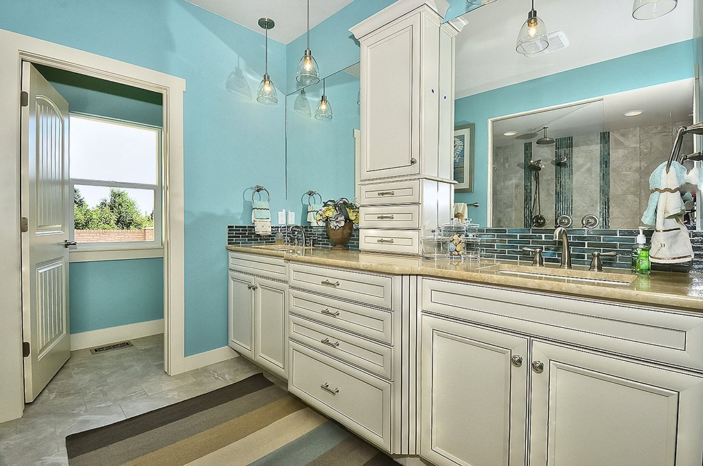 Picture of master bathroom cabinetry in 1602 Gold Hill Mesa Dr Colorado Springs CO