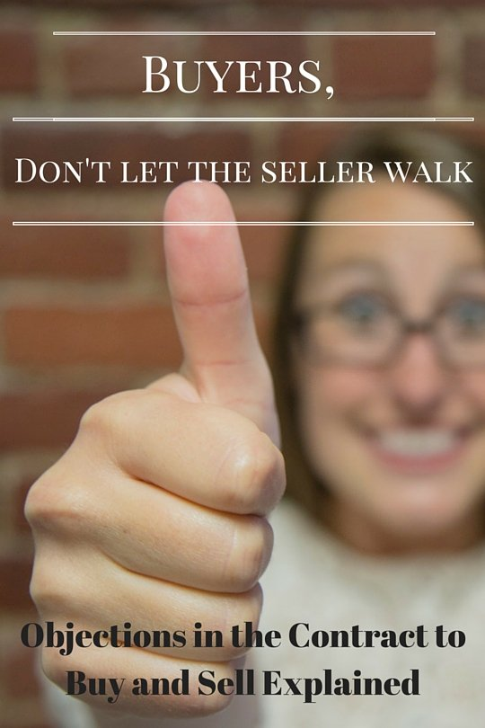don't lose the contract to buy and sell