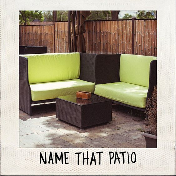 A picture of a patio in Colorado Springs captioned with name that patio