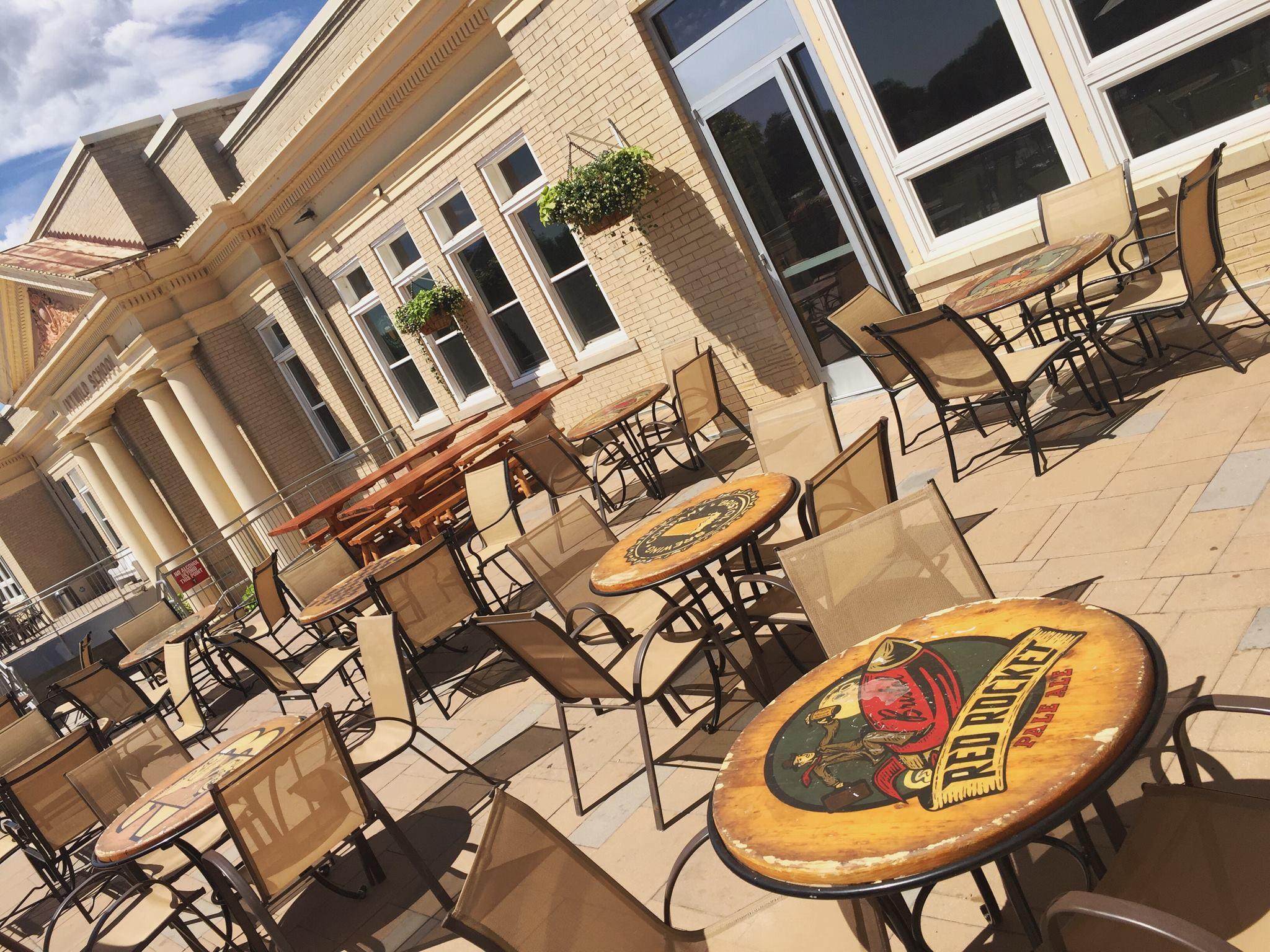 Patio area of Bristol Brewing at Ivywild School in Colorado Springs