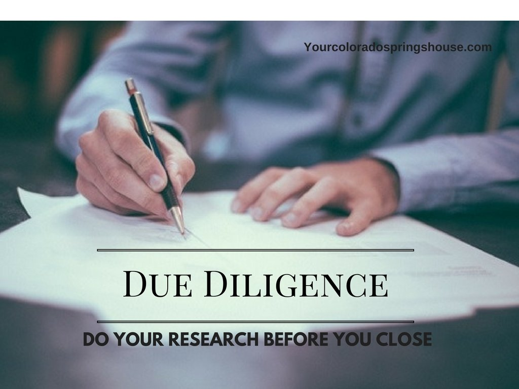 Due Diligence before buying a house