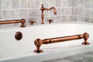 universal design copper grab bars