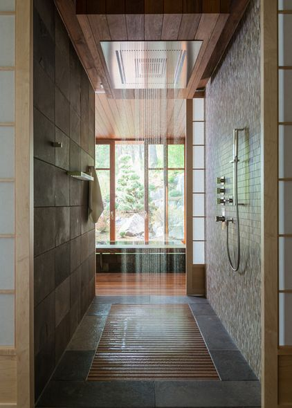 Picture of rainfall shower in a Universal Design Home