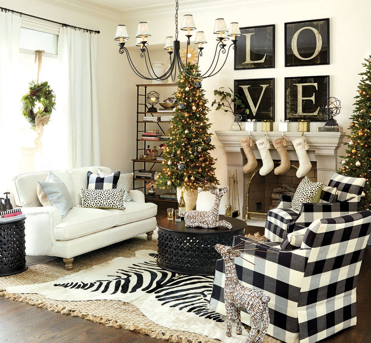 Decorated Homes: A Colorado Christmas Design Trend: Stylized Woodland