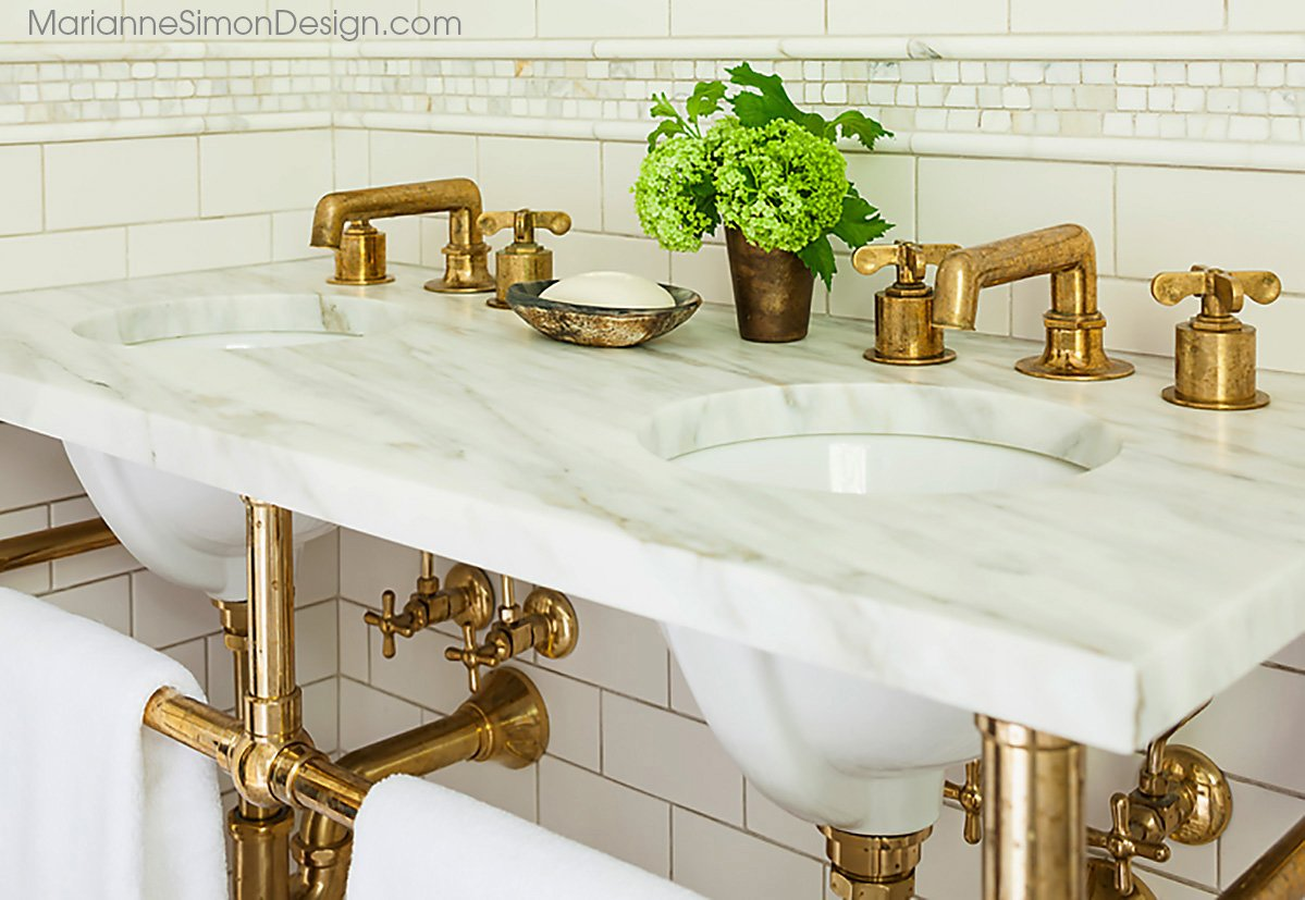 Marble and brass, home design trend