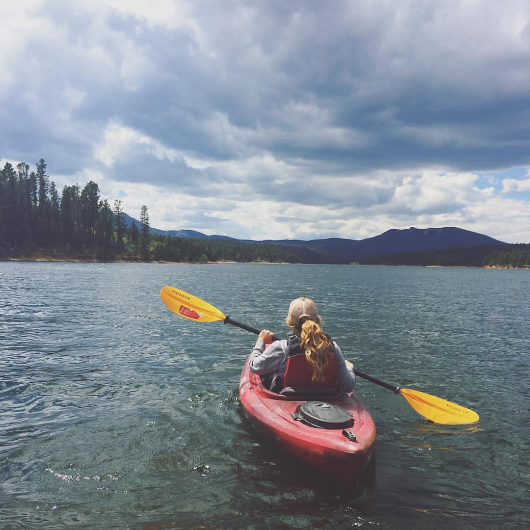 Kayaking on North Catamount Lake, Pikes Peak