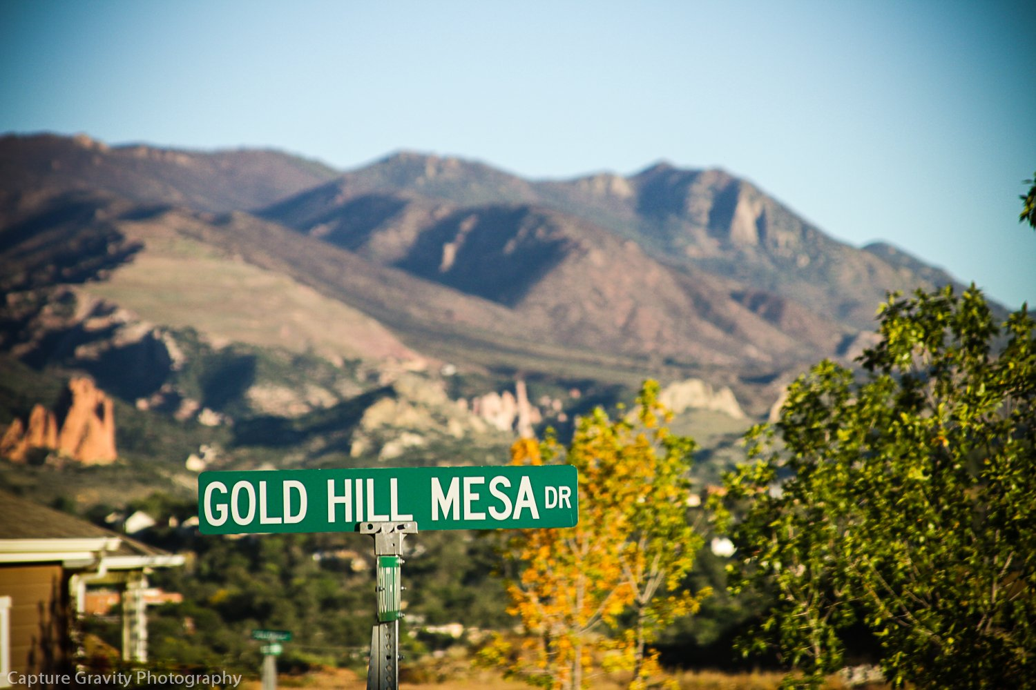Picture of mountains from Gold Hill Mesa Dr