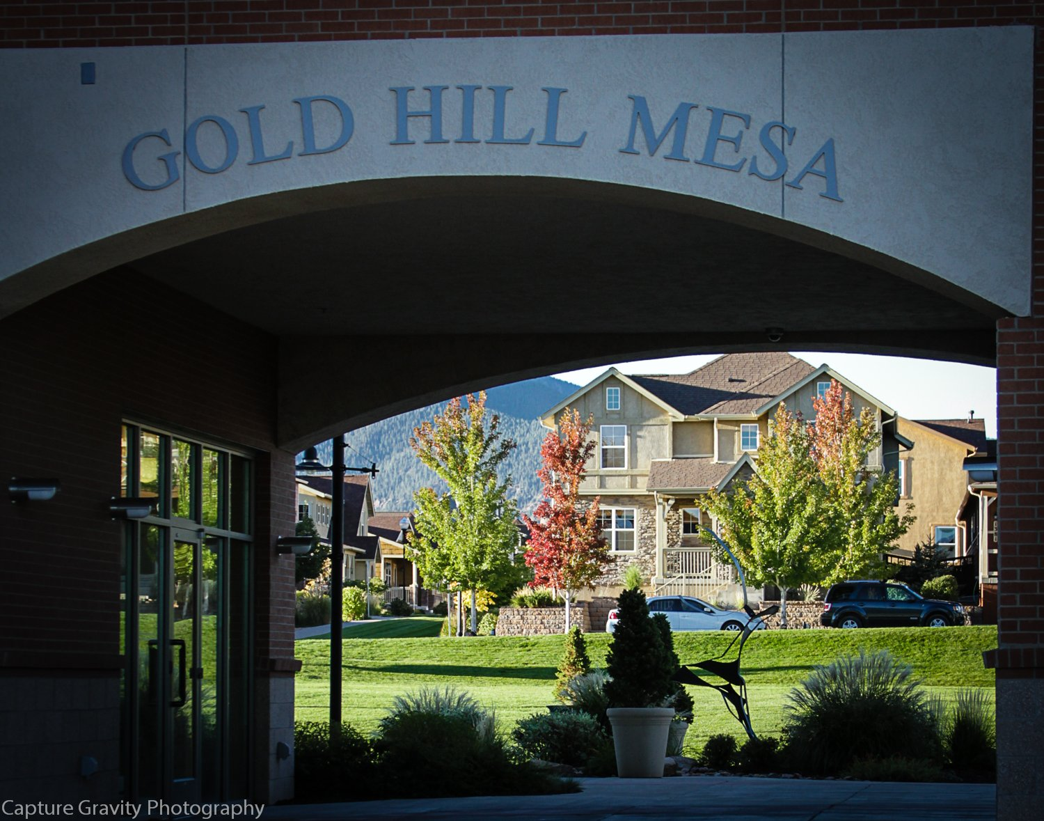 PIcture of Arch on Gold Hill Mesa community center