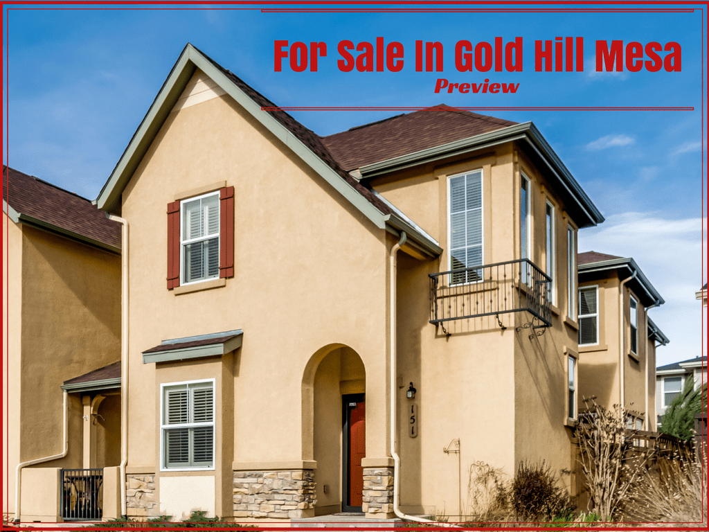 Gold Hill Mesa condo for sale, picture of front of home