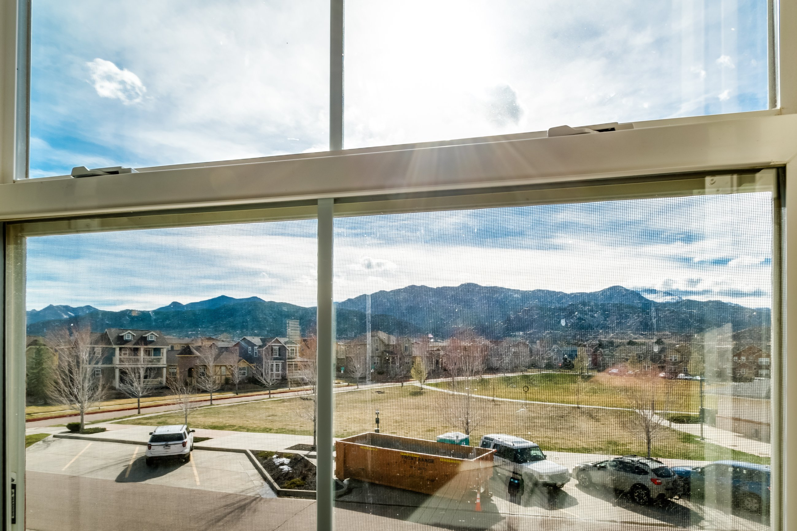 Gold Hill Mesa condo for sale, picture of Pikes Peak from the upper level of the home
