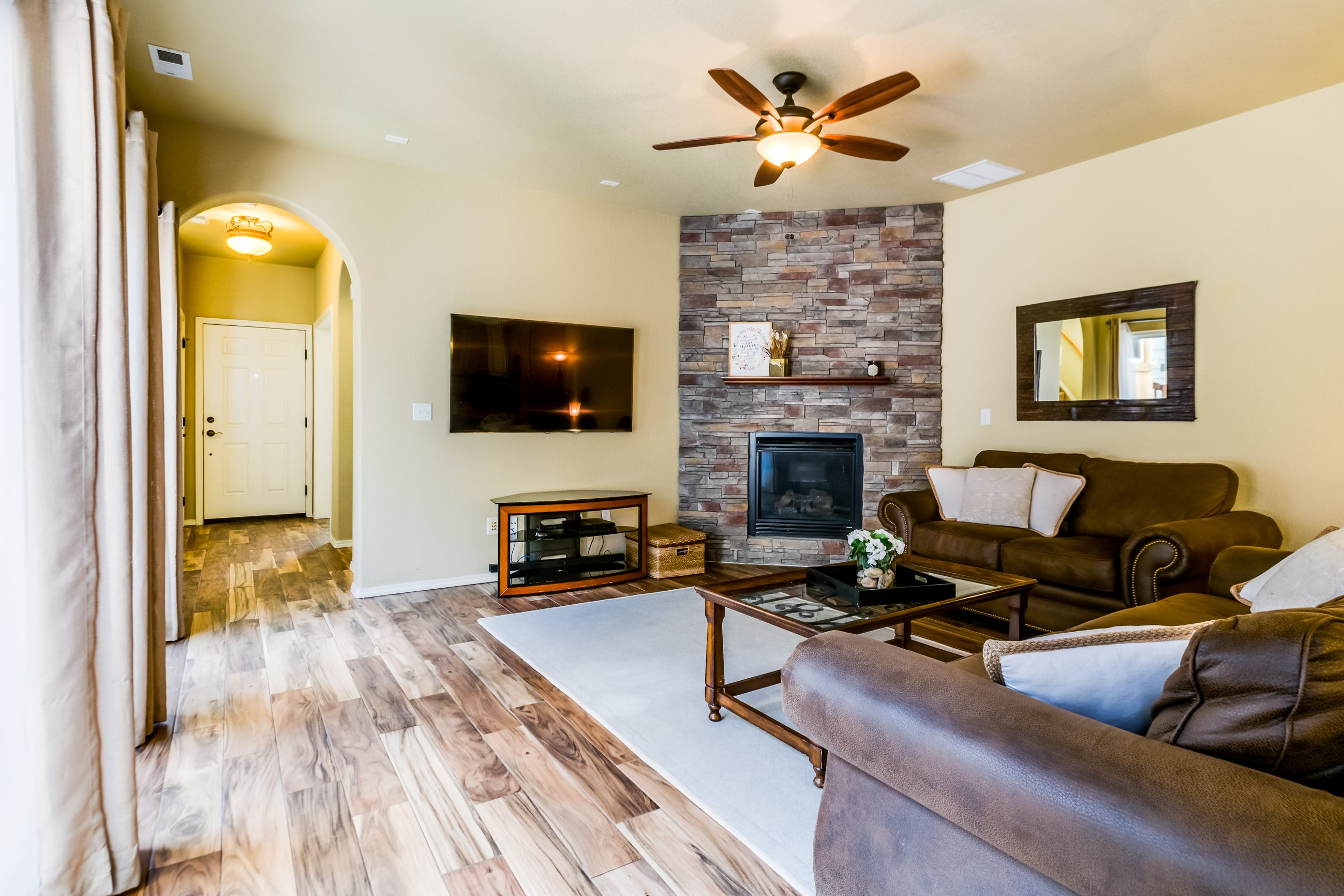 Gold Hill Mesa condo for sale, picture of fireplace/living room area