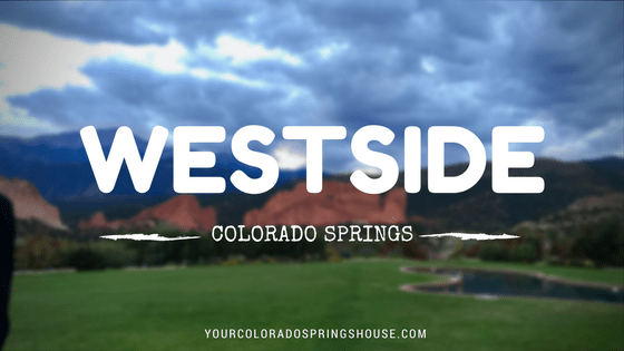 Picture of Garden of the Gods, captioned with Westside Colorado Springs