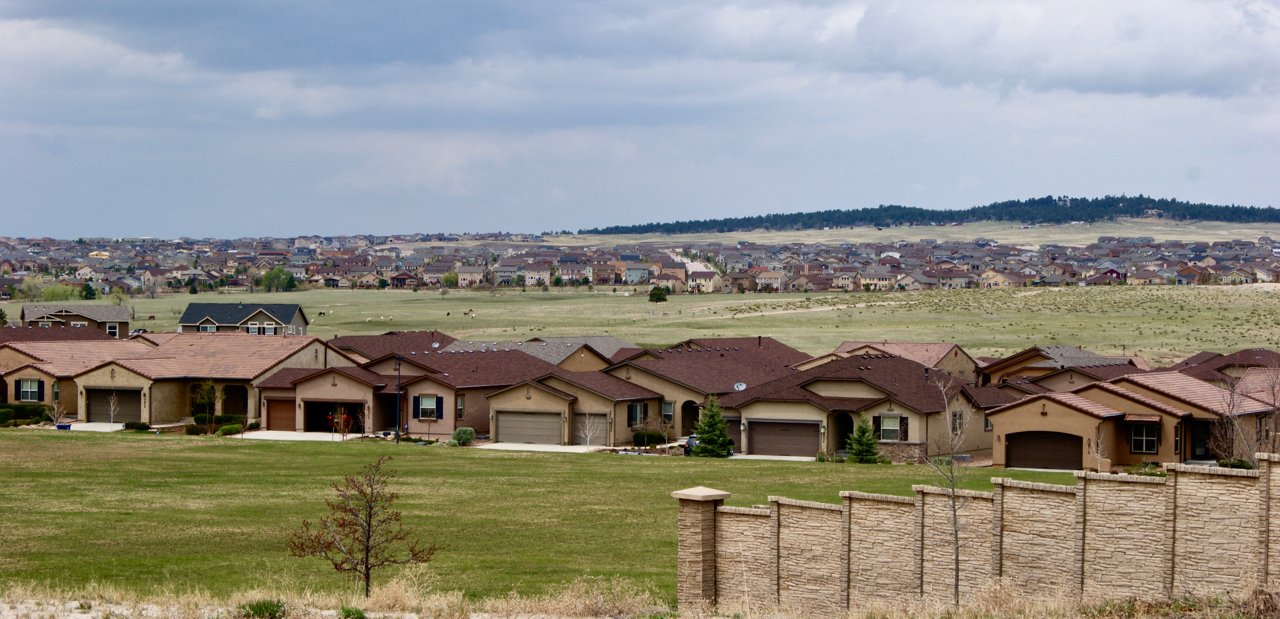 Woodmen and Powers in Colorado Springs, where homes and ranch land merge