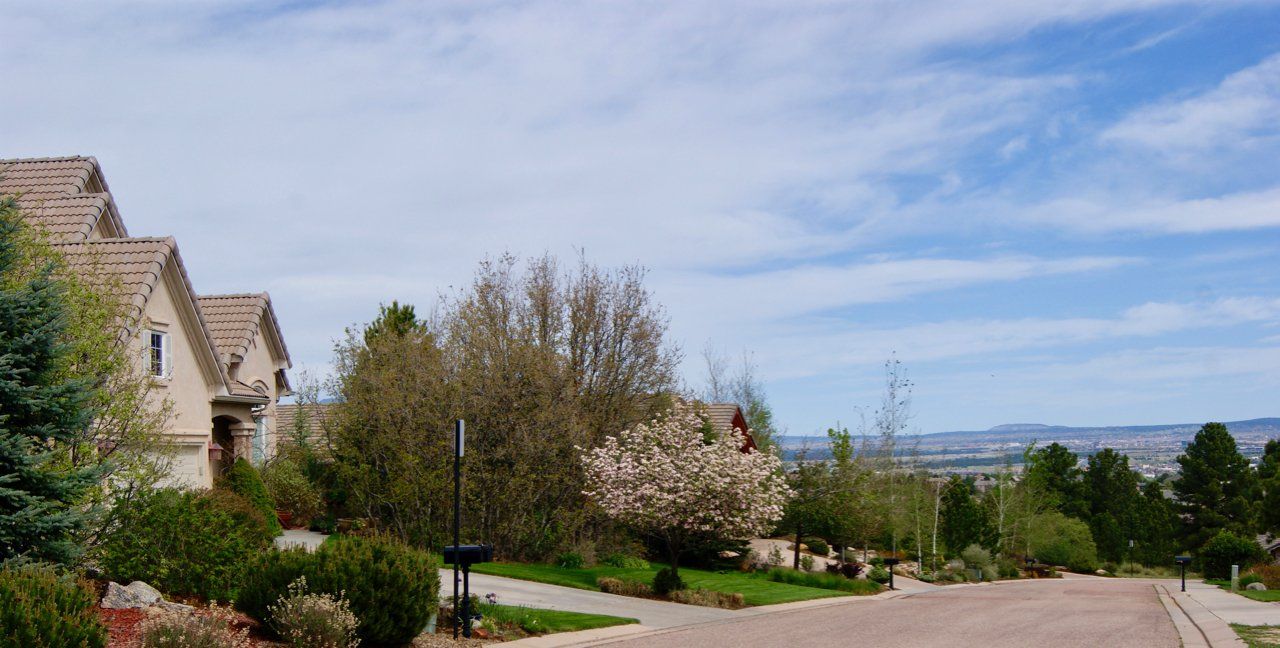 University hills neighborhood in Colorado Springs