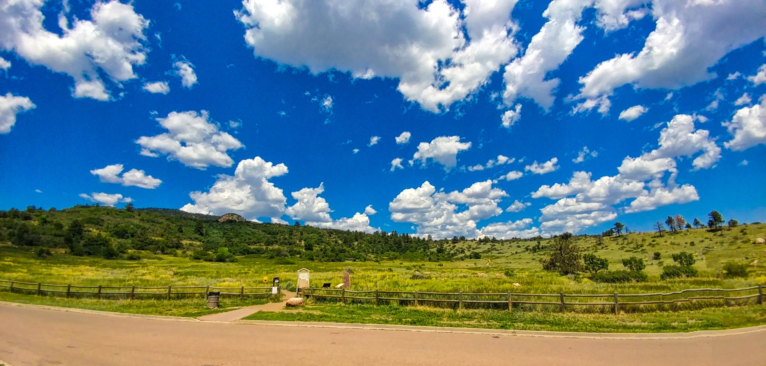 Picture of trail entrance to Stratton open space in Colorado Springs