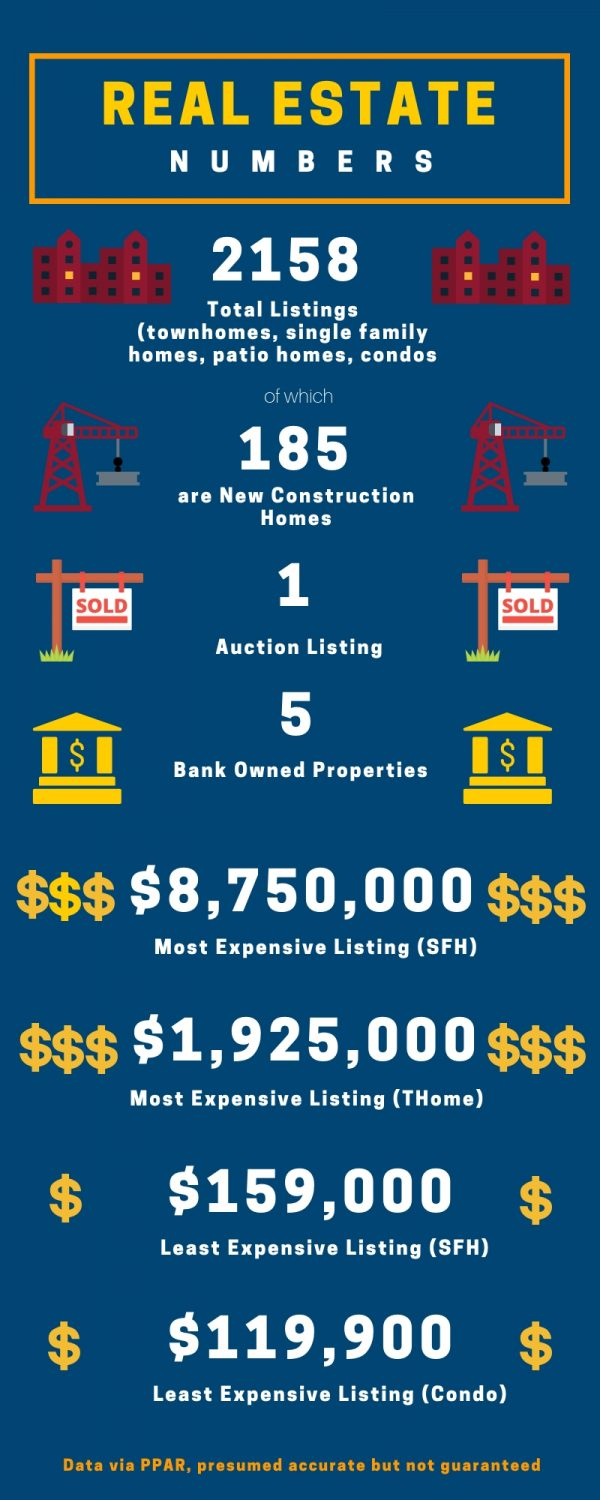 Infographic with Colorado Springs Real Estate Market stats