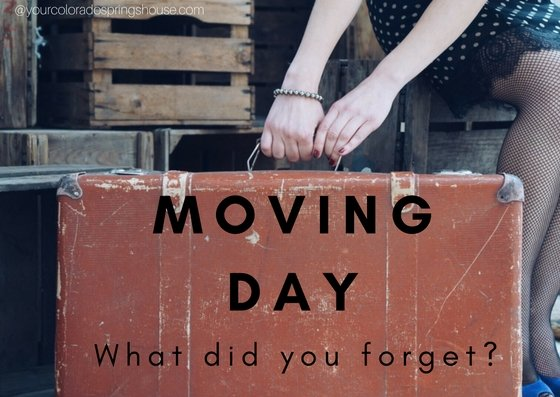 Moving day. What did you forget?
