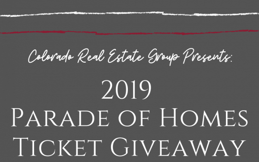 Graphic with caption for Parade of Homes Ticket Giveaway