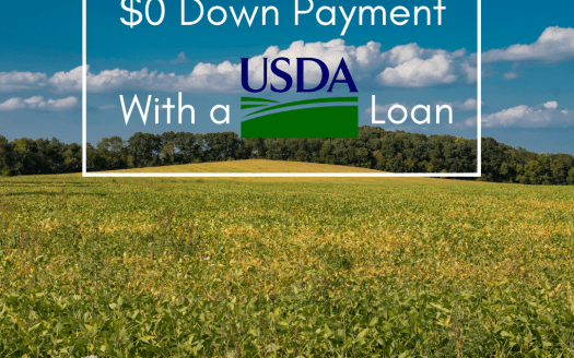 $0 down payment with a USDA loan