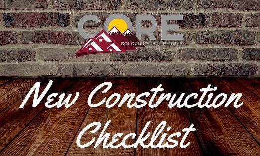 New Construction Checklist