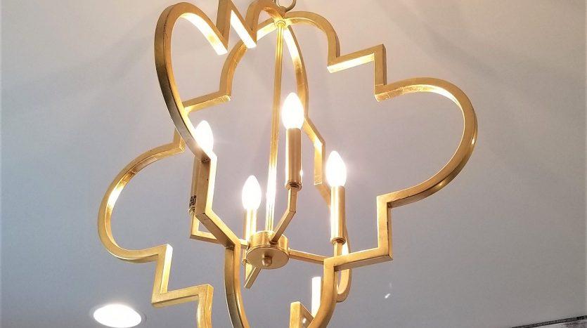 Soft gold bronze light fixture