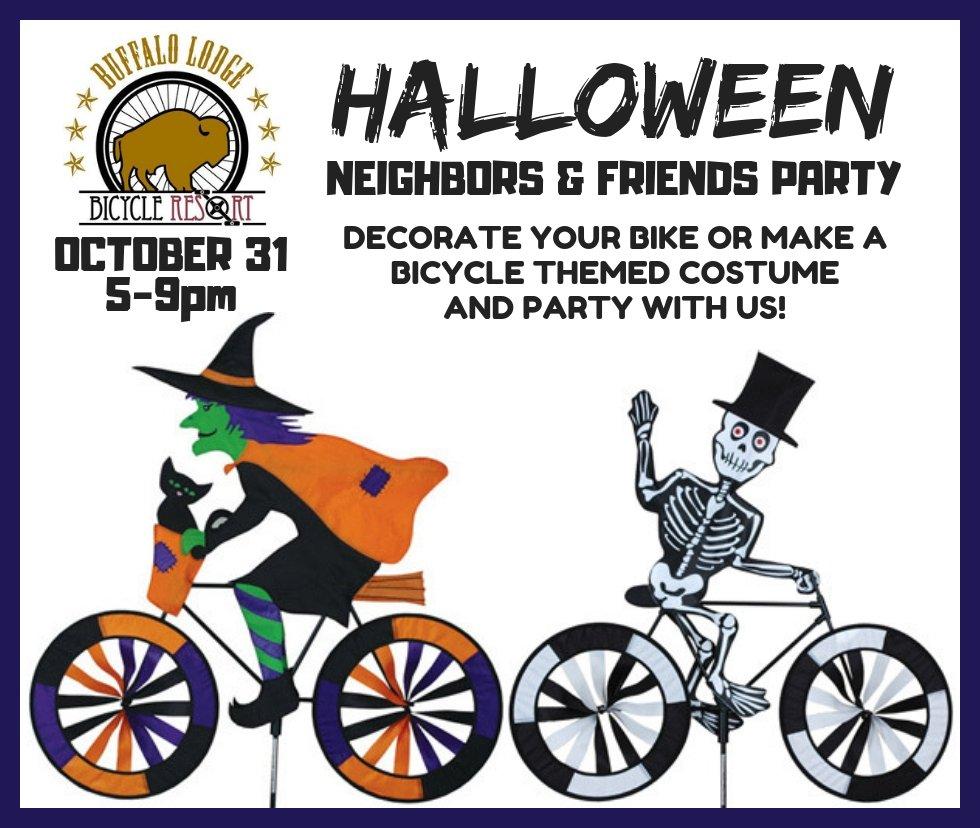 Buffalo Lodge Bicycle Resort Halloween