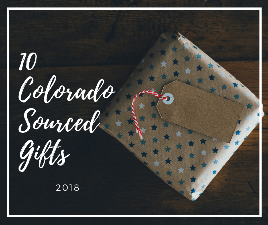 "Picture of gift with ""10 Colorado Sourced Gifts"" caption"