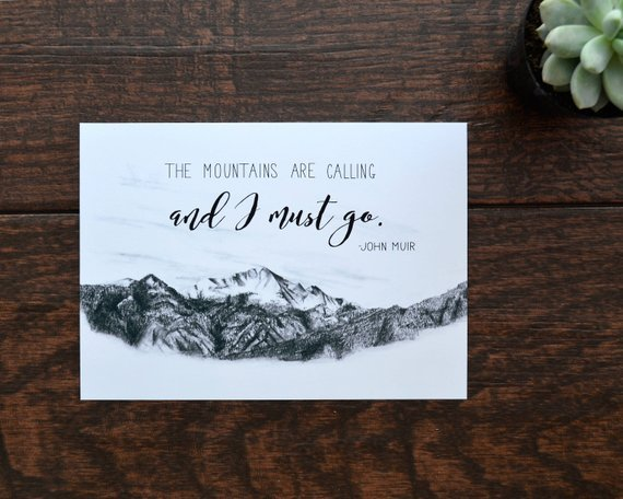 picture of mountain art print designed by Everyday Summit